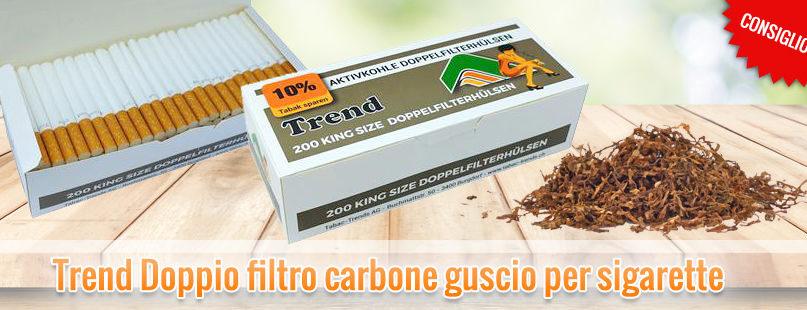 Trend Doppio filtro carbone guscio per sigarette