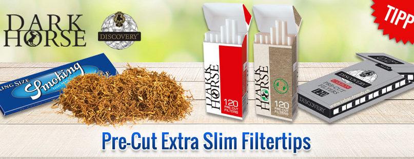 Pre-Cut Extra Slim Filtertips