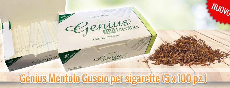 Genius Mentolo Guscio per sigarette