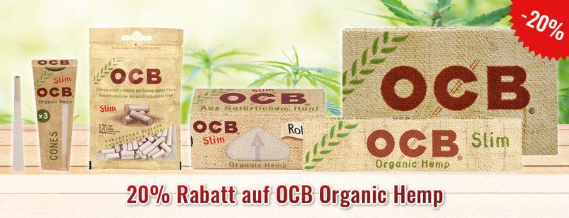 20% Rabatt auf OCB Organic Hemp