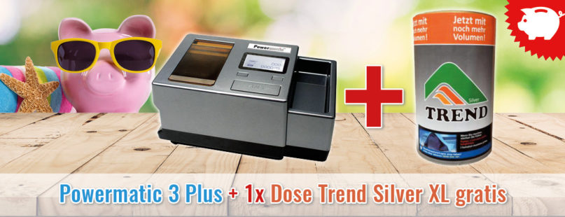 Powermatic 3 Plus + 1x Dose Trend Silver XL gratis