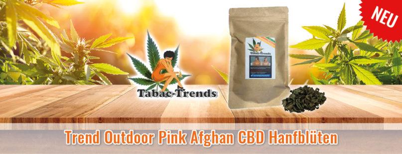Trend Outdoor Pink Afghan CBD Hanfblüten