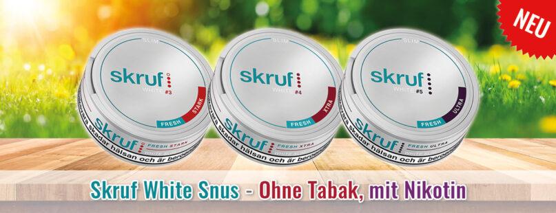Skruf White Snus - Ohne Tabak, mit Nikotin