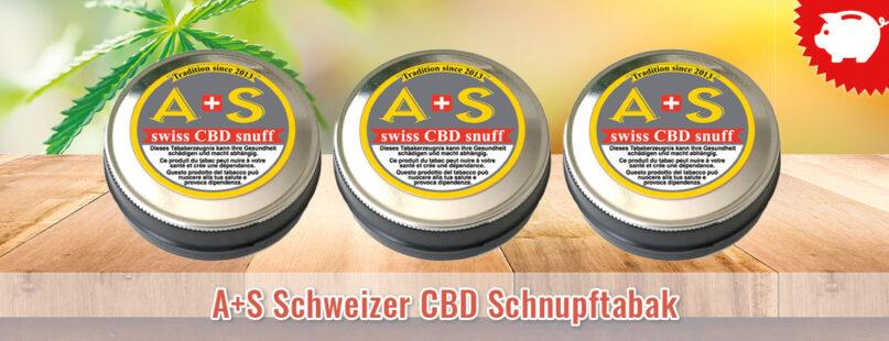 A+S Schweizer CBD Schnupftabak