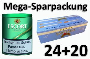 Escort Menthol + 4000 Doppelfilterhülsen