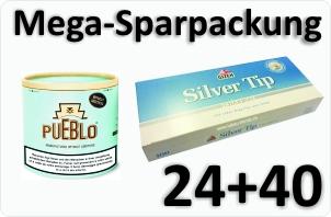 24 Dosen Pueblo Blue + 4000 Aktivkohle Filterhülsen