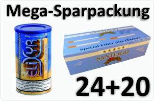 24 Dosen Elixyr blue + 4000 Doppelfilterhülsen