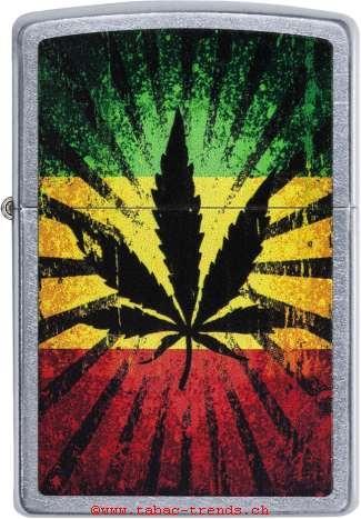 Zippo 60003901 Rastafari Leaf Design