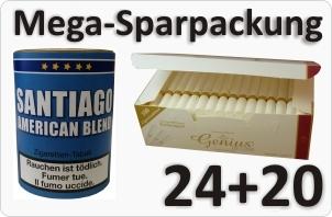 Santiago American Blend + Weisse Filterhülsen