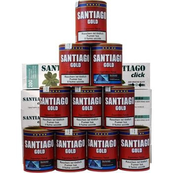 Santiago Gold Tabak & Santiago Click Filterhülsen