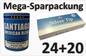 Santiago Stopftabak und Aktivkohle Filterhülsen