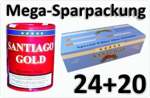 24 Dosen Santiago Gold + 4000 Doppelfilterhülsen
