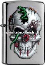 Zippo Skull with Snake 203282