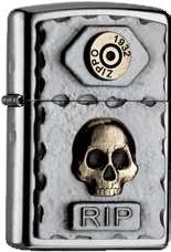 Zippo Skull RIP 2004748