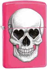 Zippo Skull Heard Eyes and Nose 60002471