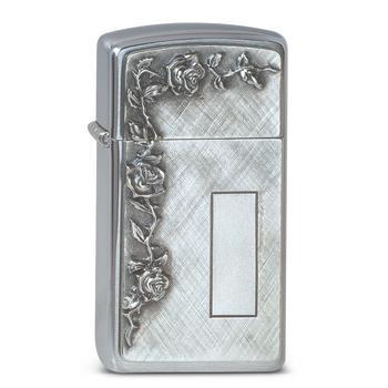 Zippo Slim Roses With Panel 1370007