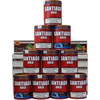Santiago Gold Tabak & Trend Short Filterhülsen Sparpackung