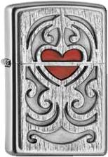 Zippo Wood Carving Heart Emblem 2005107