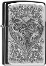 Zippo Heart With Ornament 2004521