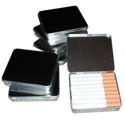 Zigaretten Etui metall 4 Stk