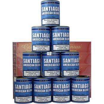 Tabak Santiago American Blend & Genius Filterhülsen