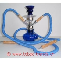 Shisha Wasserpfeife blau 2er 27cm