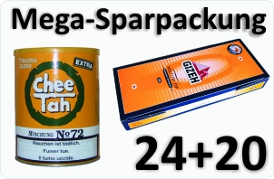 24 Dosen Chee tah gelb + 4000 Silver Tip Aktivkohle