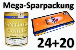 24 Dosen Santiago Vanille + 4000 Aktivkohle Filterhülsen