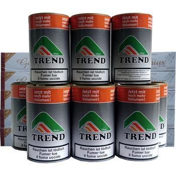 Tabak Trend Silver & Weisse Filterhülsen