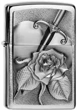 Zippo Heart With Rose 2004311