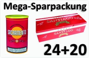 24 Dosen Sacramento + 4000 Filterhülsen Santiago