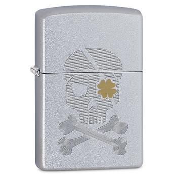 Zippo Pl Skull Shamrock 60002484