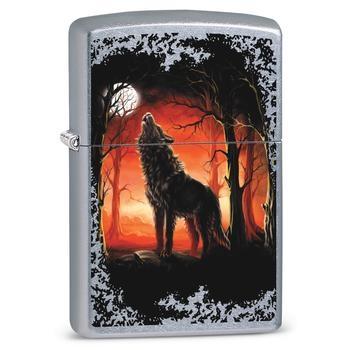 Zippo Wolf Moon Trees 60002725