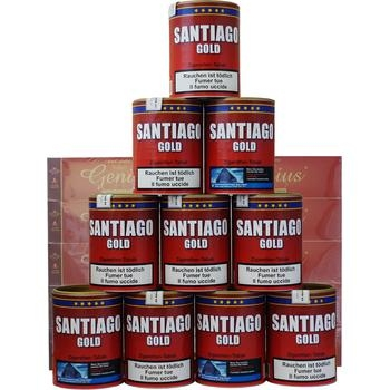 Santiago Gold Tabak & Genius Filterhülsen