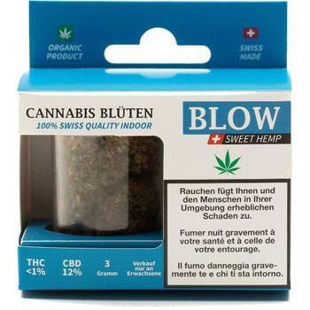 Cannabis-Blüten Blau