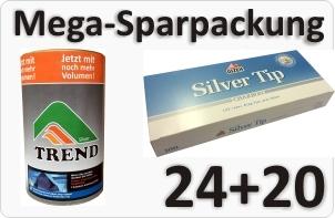 Trend Silver Tabak mit Aktivkohle Hülsen