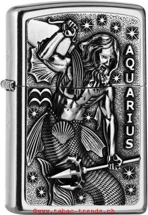 Zippo 2006508 Plakette Aquarius