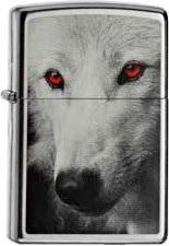 Zippo Wolve With Red Eyes 60000469