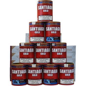 Tabak Santiago Gold & Weisse Filterhülsen