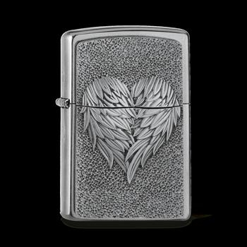 Zippo Heart With Feathers 2005352