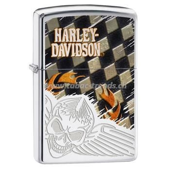 Zippo Harly Davidson Flying Skull