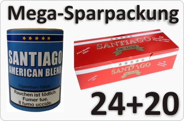 24 Dosen Santiago American Blend Tabak und FIlter