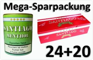 24 Dosen Santiago Menthol + 4000 Filterhülsen Santiago
