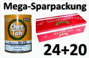 24 Dosen Chee tah gelb + 4000 Filterhülsen Santiago