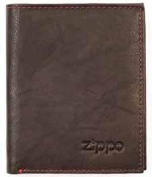 d02cf98e73d87 Zippo Portemonnaie Leder Mocca