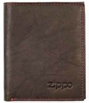 Zippo Portemonnaie Leder Mocca