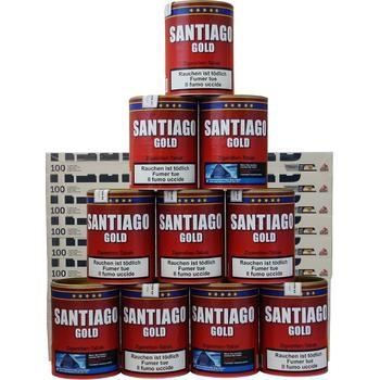 Santiago Gold Tabak & Gizeh Carbon Filter