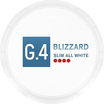G.4 Blizzard Slim All White Snus