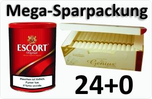 Escort Original Tabak + 4000 Filterhülsen Genius White