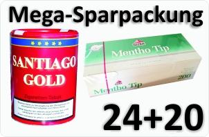 24 Dosen Santiago Gold + 4000 Menthotip Menthol